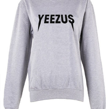 Yeezus crew neck Sweatshirt shirt unisex womens mens ladies  print sweatshirt  pullover jumper  Kanya west Concert Tour trendy gig