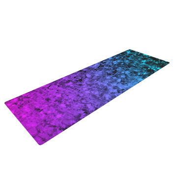 "Ebi Emporium ""Romance Me at Midnight"" Teal Blue Yoga Mat"