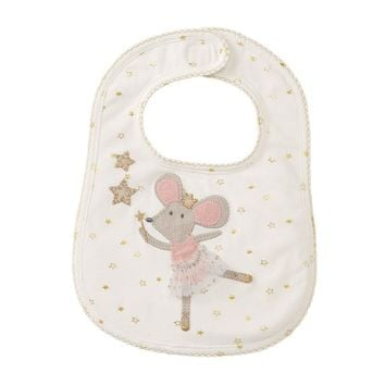 MUD PIE MOUSE SPARKLE BIB