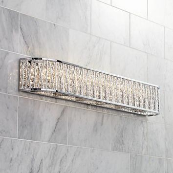 "Possini Euro Woven Laser Cut 36"" Wide Chrome Bath Light - #1F120 