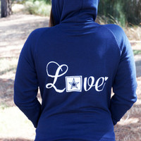 Love Military Style zip hoodie. usmc navy army usaf wife girlfriend