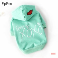 PipiFren Spring Summer Dogs Clothes T Shirts In Pets Clothes Cats Costume Colorful Coats  Costumes Manteau chien ubranka dla psa