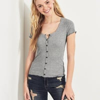 Girls Must-Have Henley T-Shirt | Girls New Arrivals | HollisterCo.com