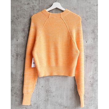 Free People - Too Good Ribbed Trim Pullover Sweater - Orange Zest f2f398864