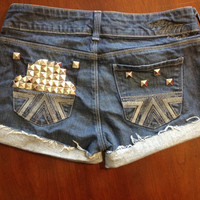 Custom American Eagle Studded Shorts Size 4 by SweetlyDistressed
