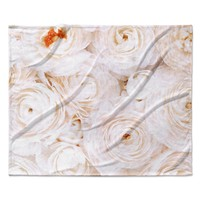 "Heidi Jennings ""Blessed"" Rose Fleece Throw Blanket"