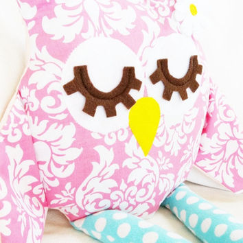 Owl Sewing Pattern  Owl Pillow Toy PDF by GandGPatterns on Etsy