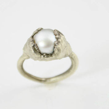 Natural Freshwater Pearl Statement Ring