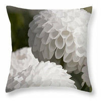 Dahlias Pillow home accents, spring decor, floral scatter cushion, dahlia decor, pillow covers, cushion covers, square and lumbar pillows
