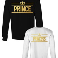Prince & Princess matching sweatshirts for couples