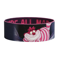 Disney Alice In Wonderland Cheshire Cat Mad Rubber Bracelet