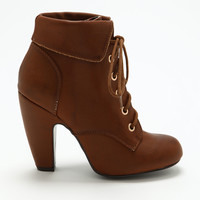 Chestnut Fold Over Booties