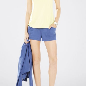 BCBG Halie Sleeveless Twist Back Top