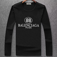 Boys & Men Balenciaga Fashion Casual Long Sleeve Shirt Top Tee