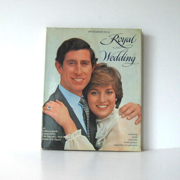 Vintage Hardback Book, Invitation to A Royal Wedding, Home and Living, Collectible, Princess Diana