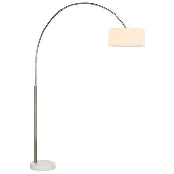 Sonneman 4097.13W Arc Shade Satin Nickel 66.5-Inch One Light Floor Lamp