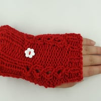 Fingerless Gloves in Red Accessories  Fashion  Wrist by toppytoppy