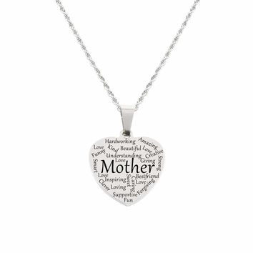 Heart Tag Necklace - Mother