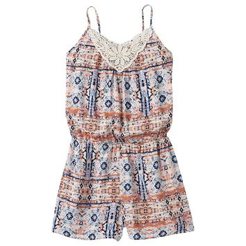 Kandy Kiss Challis Romper - Girls 7-16