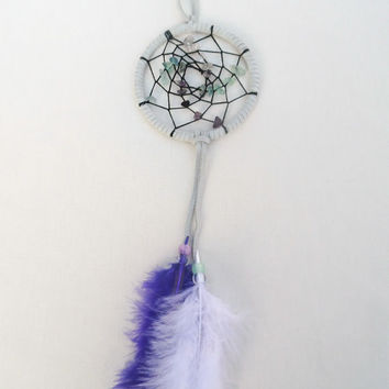 Suede flourite chipped dreamcatcher-small bedroom wall hanging decoration