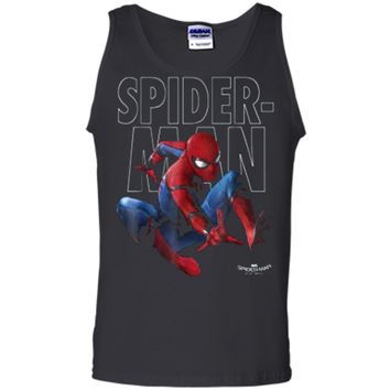 Marvel Spider-Man Homecoming Outlined Epic Jump Pose  Tank Top