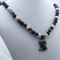 Dolphin & Sodalite Necklace