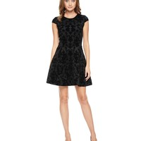 Cupid Scroll Flocked Scuba Dress by Juicy Couture