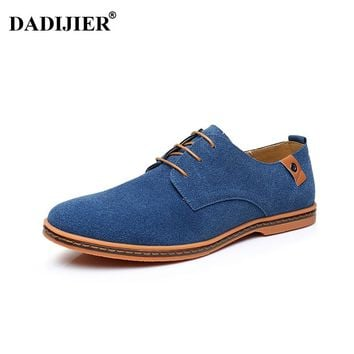 DADIJIER Men shoes 2018 New Fashion Suede Leather shoes Men Sneakers Casual oxfords for Spring Summer Winter shoes Dropshipping