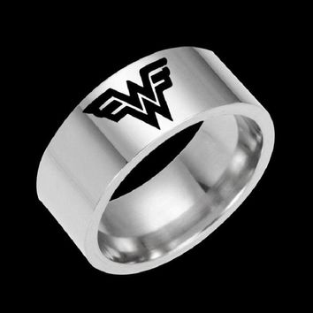 2017 Movie Jewelry Wonder Women Stainless Steel Ring Band DC Marvel Comics Wonder Woman Tungstn Wedding Cosplay Rings Gift