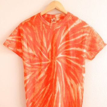 NEON COLLECTION: Tangerine Tie-Dye Unisex Tee