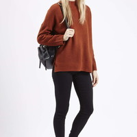 PETITE Ribbed Side Split Sweater - Topshop