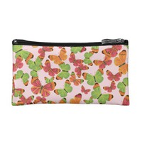 Butterfly Pattern Colorful Cosmetic Bag