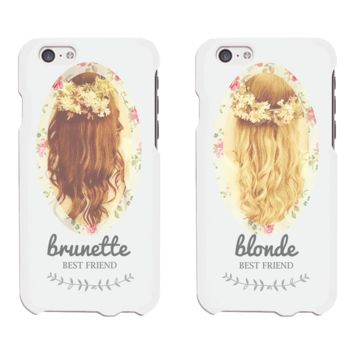 Floral Brunette Blonde Phone Cases