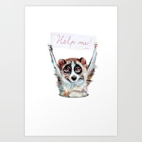 Loris need help Art Print by Emilia Jesenska