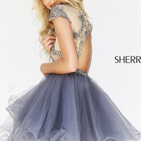 Open Back Babydoll Dress with Cap Sleeves