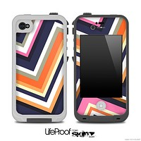 ZigZag V5 Fun Color Pattern Skin for the iPhone 5 or 4/4s LifeProof Case