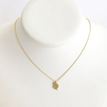 Virgo Zodiac Necklace In Gold
