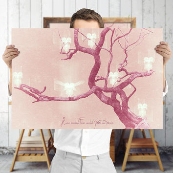 Bohemian Tree Print - Pink Whimsical Wall Art, Digital Download | Printable Nursery Decor by Mila Tovar