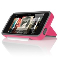 INCIPIO STOWAWAY Hybrid Case w/ Credit Card Holder IPH-855 (Pink) for Apple iPhone 5 (Grey)