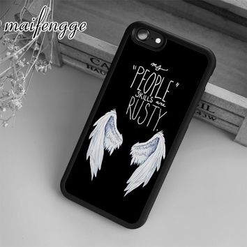 maifengge Supernatural Castiel Wing Case For iPhone 6 6S 7 8 Plus X 5 5S SE Case cover for Samsung S5 S6 S7 edge S8 Plus shell