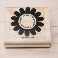 Stampin Up Flower So Sweet of you Thinking of You or Tickled Pink PigWood Block Stamp Your Choice of One