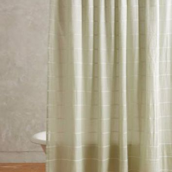 Anthropologie Masula Shower Curtain - Mint - NWT