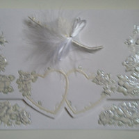 Blank Handmade Wedding Greeting Card or Invitation