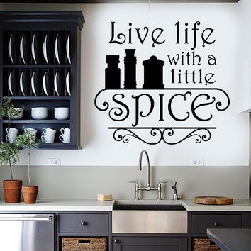 Vinyl Wall Decal Kitchen Quote Spice Chef Restaurant Cook Stickers Unique Gift (ig4534)