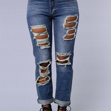 Luke Boyfriend Jeans - Medium Wash