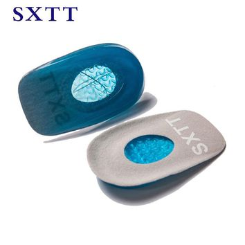 SXTT New Silicone Gel orthopedic Insoles Back Pad Heel Cup for Calcaneal Pain Health Feet Care Support spur feet cushion pads