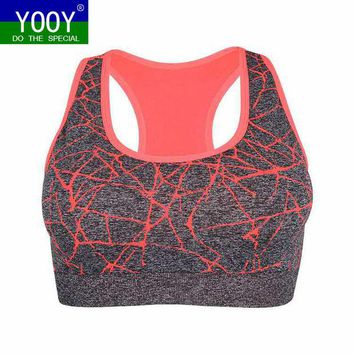 DCCKL3Z Professional Women Shockproof Sports Bra, Stretch Push Up Padded Fitness Vest ,Breathable Seamless Underwear Yoga Running T