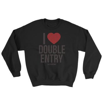 I Love Double Entry - Accountant - Ugly Sweater - Funny Christmas - Sweatshirt
