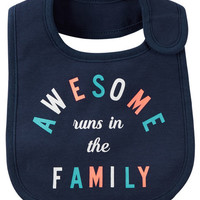 Awesome Runs In The Family Teething Bib