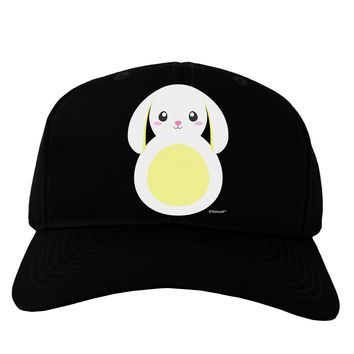 Cute Bunny with Floppy Ears - Yellow Adult Dark Baseball Cap Hat by TooLoud